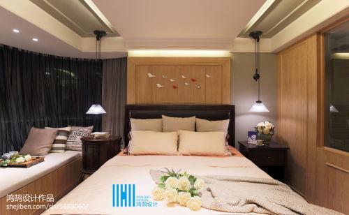 热门面积94平混搭三居卧室装修图卧室床3图