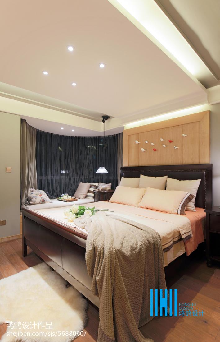 热门100平三居混搭装修设计效果图片大全卧室床头柜潮流混搭卧室设计图片赏析