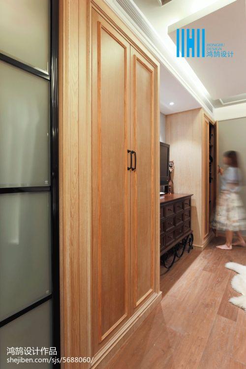 精选大小103平混搭三居卧室装修实景图卧室木地板5图