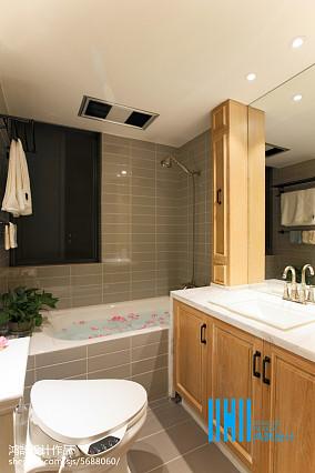 热门大小100平混搭三居卫生间装修欣赏图片大全三居潮流混搭家装装修案例效果图