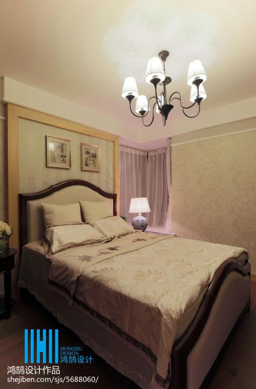 面积100平混搭三居卧室装修实景图片大全卧室窗帘1图