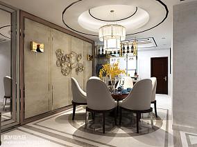 现代简约别墅走廊设计效果图