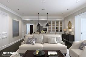 美式格调打造四居室客厅装修效果图