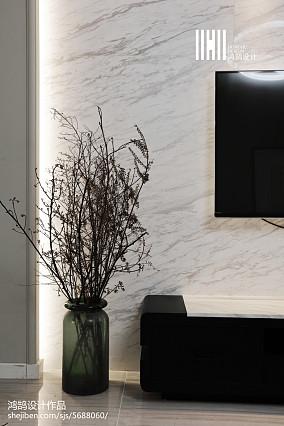 优雅129平现代三居设计美图三居现代简约家装装修案例效果图