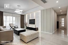温馨125平现代三居装饰图三居现代简约家装装修案例效果图