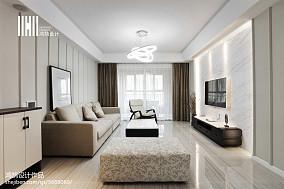 精选面积102平现代三居客厅装修实景图三居现代简约家装装修案例效果图