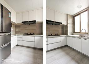 优美96平现代三居厨房装修案例三居现代简约家装装修案例效果图