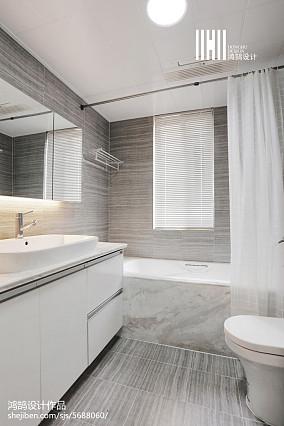 145㎡现代风格卫生间设计三居现代简约家装装修案例效果图