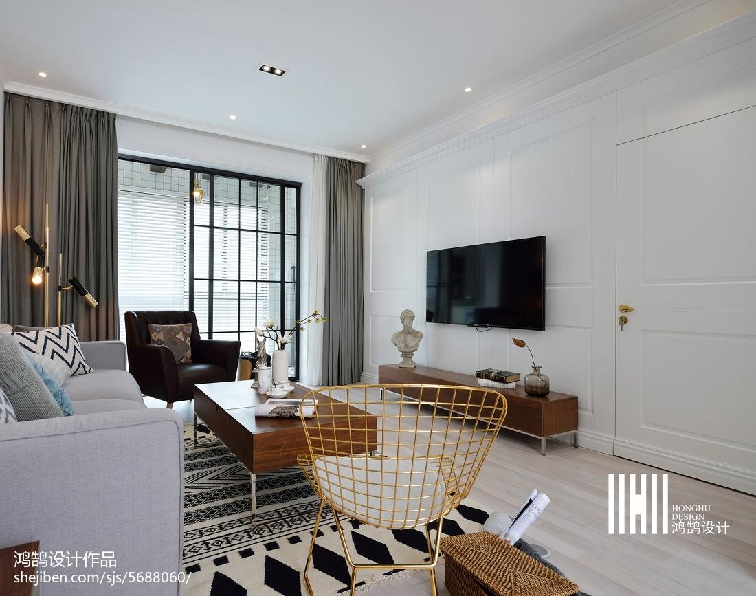 精美93平米三居客厅北欧装修效果图客厅