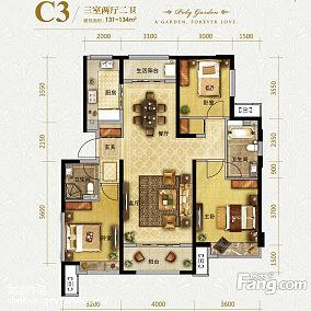 典雅80多平方两室一厅效果图