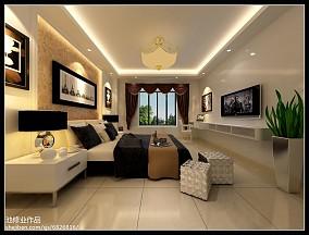 现代简约风格婚房卧室装修效果图