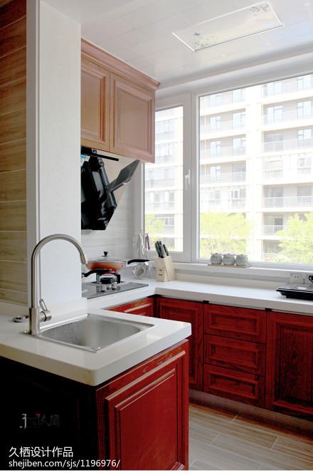 质朴85平混搭三居厨房实景图片餐厅