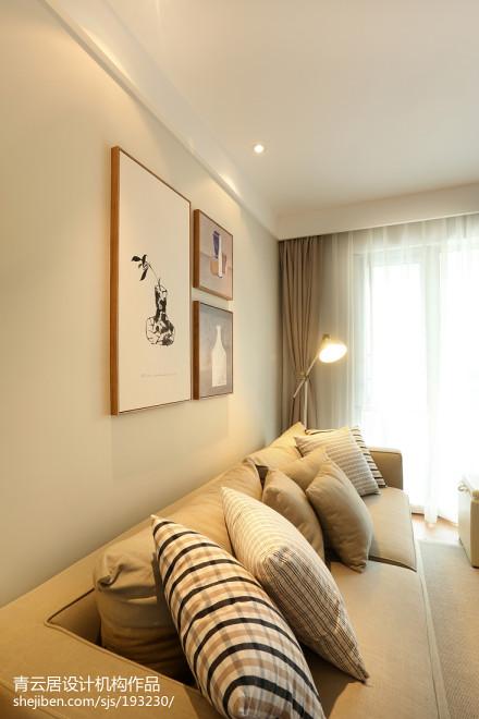 精美日式三居客厅实景图