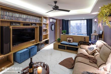 精美面积75平小户型客厅混搭装修效果图