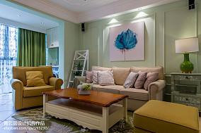 精美91平大小客厅三居混搭装修实景图片欣赏