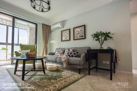 家居美式格调客厅效果图二居美式经典家装装修案例效果图