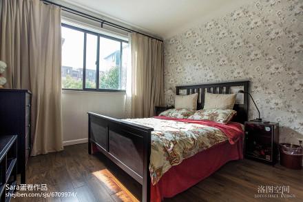 201883平米二居卧室美式装修效果图