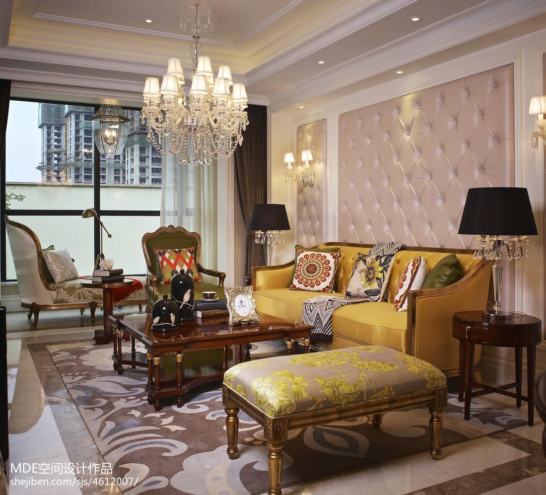 沙发背景墙装饰设计功能区美式经典功能区设计图片赏析