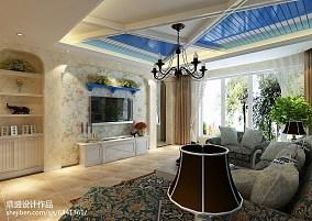 地中海风格四室两厅设计效果图