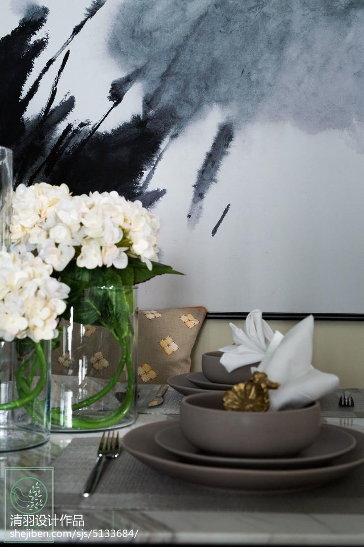 2018精选108平米三居餐厅现代装修图片欣赏厨房现代简约餐厅设计图片赏析