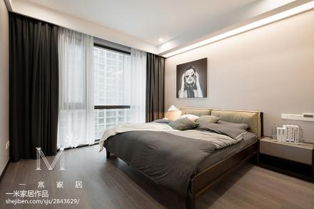 2018面积96平现代三居卧室装修图片大全