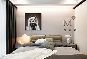 热门93平米三居卧室现代实景图