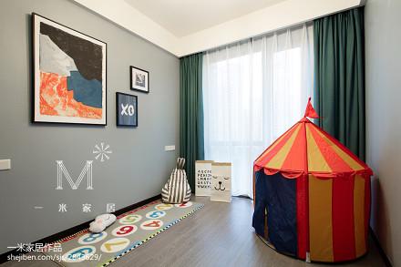 典雅100平现代三居设计效果图