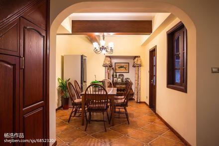 面积133平别墅餐厅美式欣赏图片大全厨房