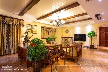 精美116平方美式别墅客厅装修图片客厅