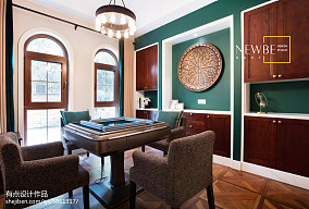 热门119平米美式别墅休闲区装修实景图片大全功能区美式经典设计图片赏析