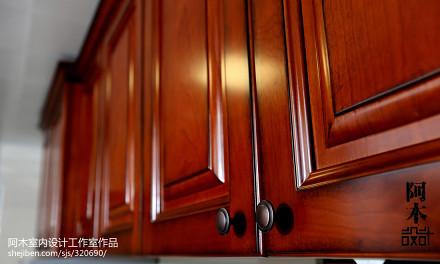 悠雅105平中式三居厨房装修装饰图餐厅1图