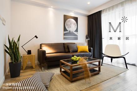 2018精选72平米现代小户型客厅装修实景图一居现代简约家装装修案例效果图