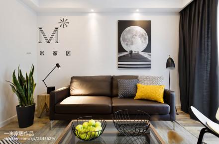 2018面积77平小户型客厅现代装修图片大全