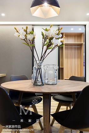 热门面积74平小户型餐厅现代装饰图片欣赏