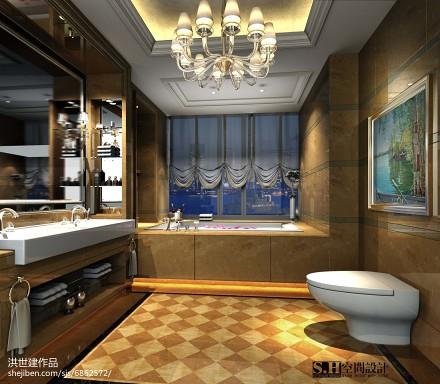 浪漫45平美式复式卫生间图片欣赏
