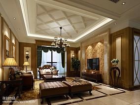 精选美式四居客厅装修设计效果图