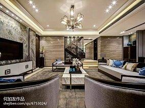 热门面积128平别墅客厅装修设计效果图片