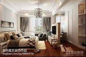 热门94平米三居卧室简约装饰图