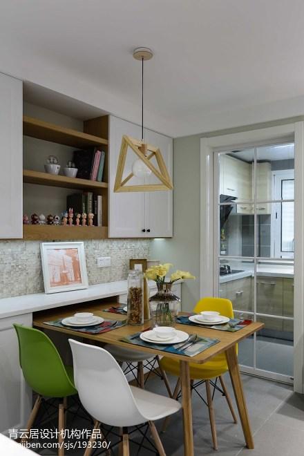 热门71平米二居餐厅日式装饰图片欣赏厨房
