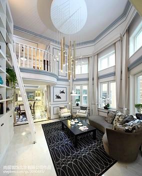 面积140平别墅客厅美式实景图片别墅豪宅美式经典家装装修案例效果图