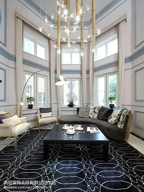 热门面积137平别墅客厅美式欣赏图片大全别墅豪宅美式经典家装装修案例效果图