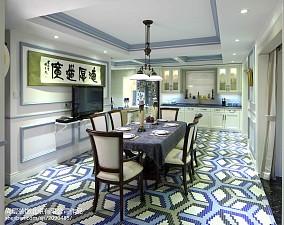 面积137平别墅餐厅美式装修设计效果图片别墅豪宅美式经典家装装修案例效果图