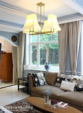 精选129平米美式别墅休闲区装修欣赏图片大全别墅豪宅美式经典家装装修案例效果图