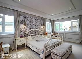 热门132平米美式别墅卧室装修实景图片大全别墅豪宅美式经典家装装修案例效果图