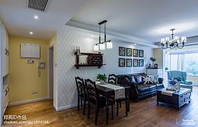 华丽105平美式三居客厅装修设计图客厅美式经典设计图片赏析