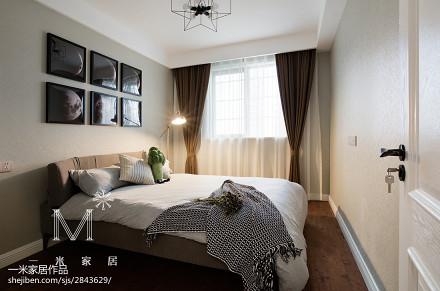 质朴50平现代二居卧室实拍图