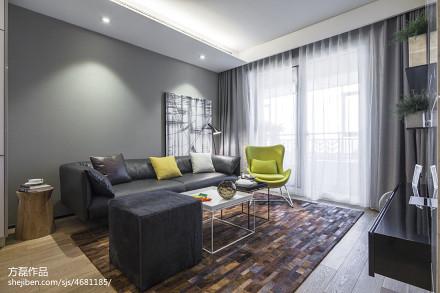 悠雅29平现代小户型客厅装修案例一居现代简约家装装修案例效果图