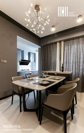 精选面积91平现代三居餐厅效果图片