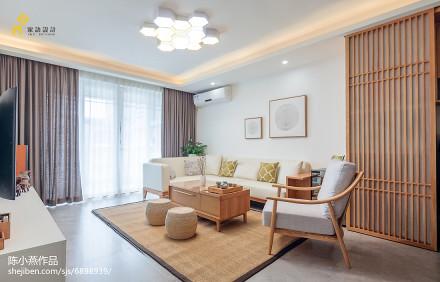 精美日式三居客厅装修效果图片大全客厅