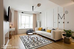 2018北欧二居客厅装修设计效果图片欣赏二居北欧极简家装装修案例效果图